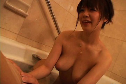 Nao mizuki. Nao Mizuki Asian with voluminous boobs plays with