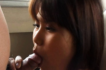 Senna ogawa. Senna Ogawa Asian with voluminous chest has hairy vagina fingered by man