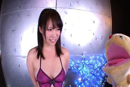 An shinohara. An Shinohara Asian exposes big tits with nipples and plays with