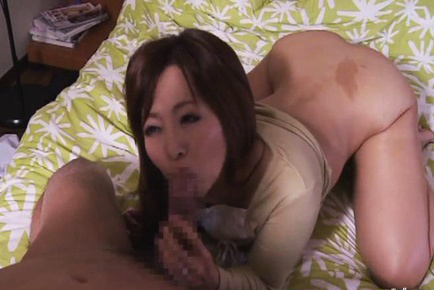 Kaori. Kaori Asian blowjob boner, is doggy nailed and has