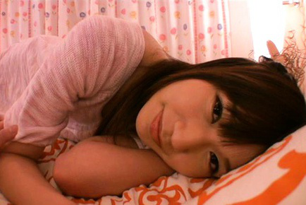 Yuuha sakai. Yuuha Sakai Asian naughty smiles while playing with