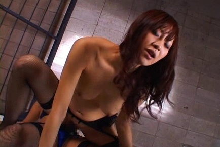 Rino imano. Rino Imano Asian gulp doll strap on before getting