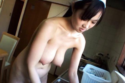 Sayuki kanno. Sayuki Kanno Asian with huge knockers cooks