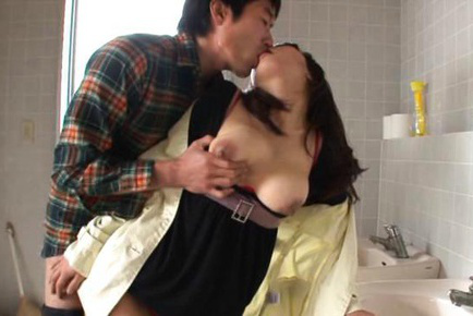 Yui tanaka. Yui Tanaka Asian has dark nipples of huge twat