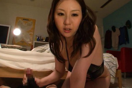 Yui tatsumi. Yui Tatsumi Asian with analy up in the air blowjob and strokes dong
