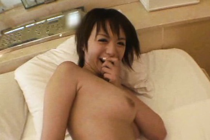 Rika hoshimi. Rika Hoshimi Asian plays with penish in bathroom