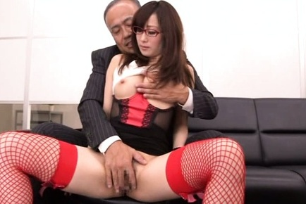 Japanese av model. Japanese AV Model with specs and red fishnets